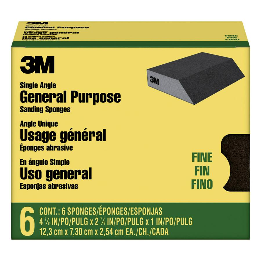 3M 6-Pack 2.875-in x 4.875-in Conventional Sanding Sponge