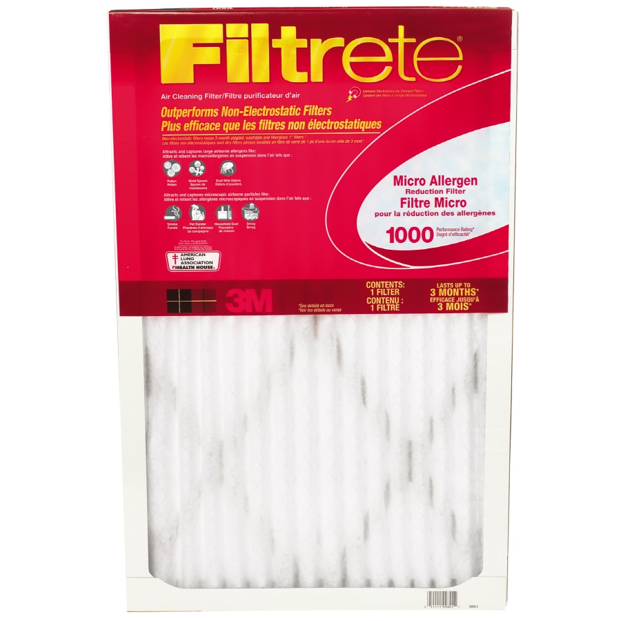Filtrete Micro Allergen Extra Reduction 16-in x 24-in x 1-in Electrostatic Pleated Air Filter