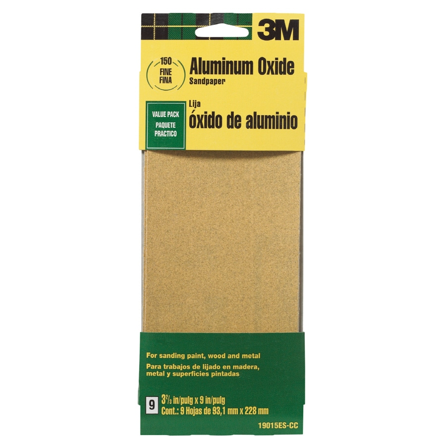 3m 9 Pack 3 6 In W X L 150 Grit Commercial Sandpaper