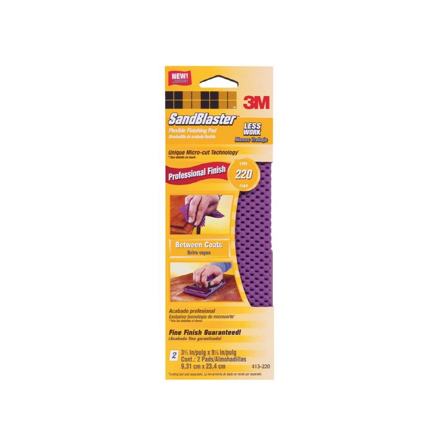 3M 2-Pack 220 Grit Flexible Finishing Pad
