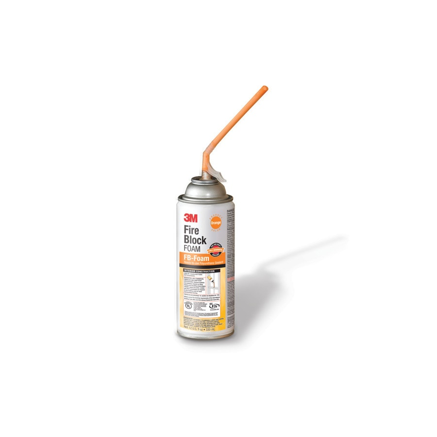 3M Fire Block 12-oz Orange Sanded Paintable Caulk