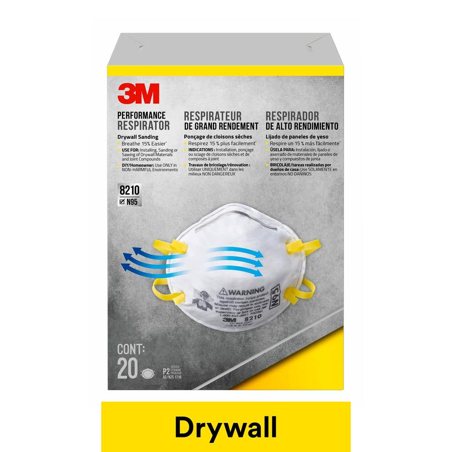 3M 20-Pack Sanding and Fiberglass Respirators