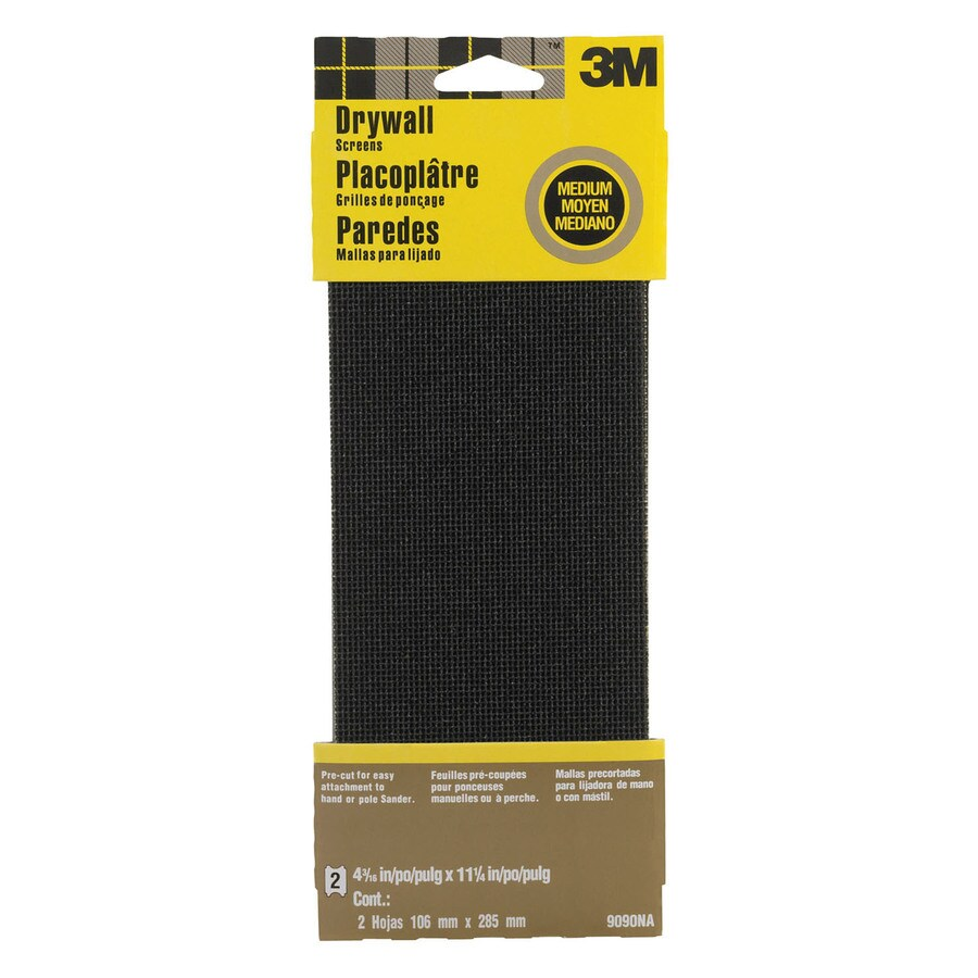 3M 2-Pack 4.375-in W x 11.25-in L 120-Grit Commercial Drywall Sandpaper