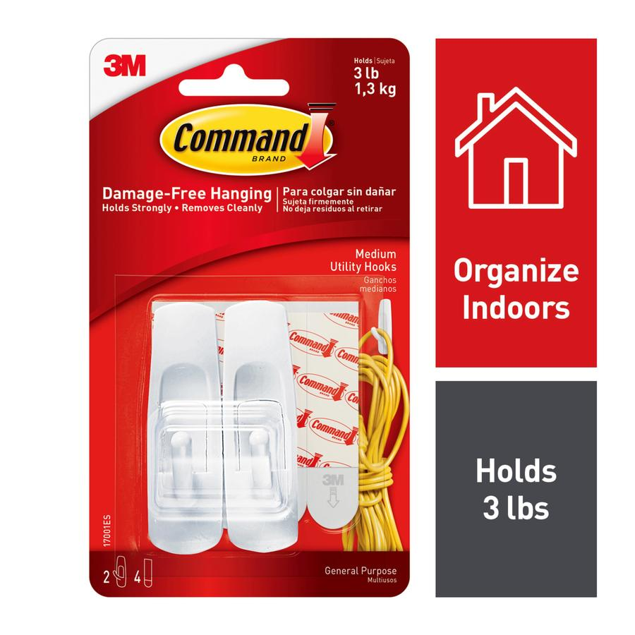 Command 2-Pack White Adhesive Hooks