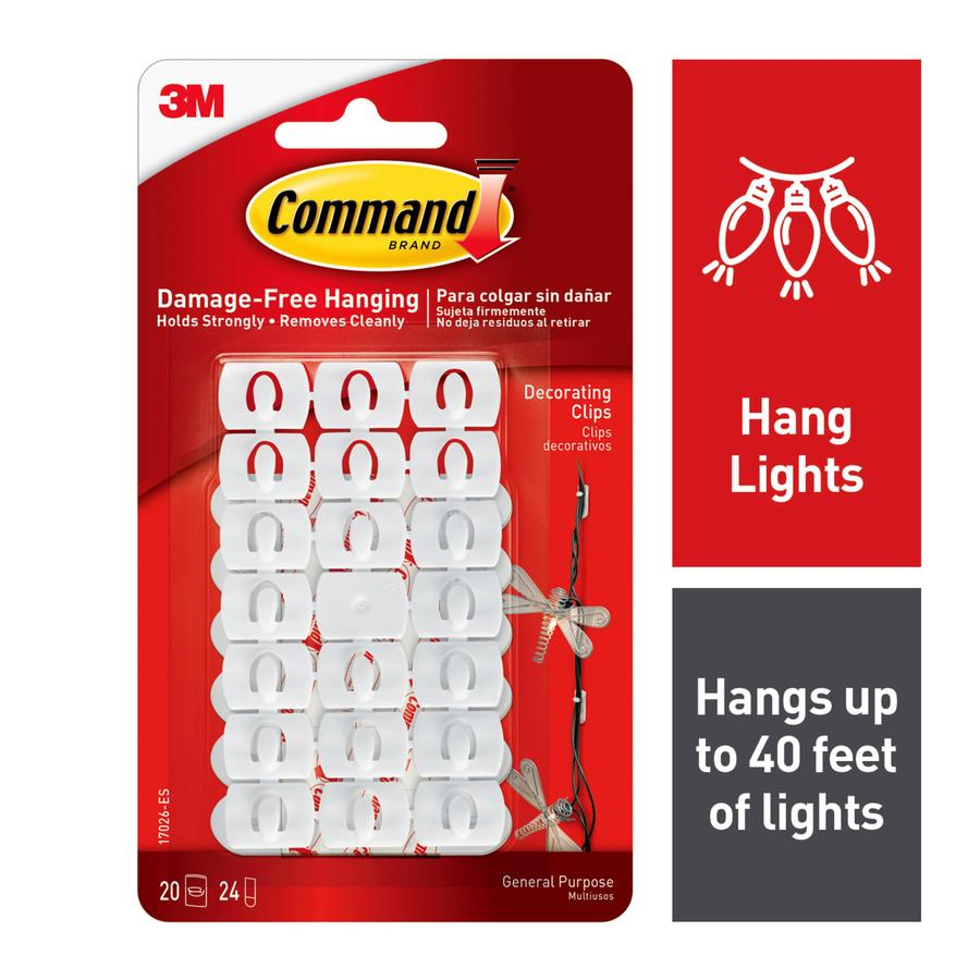 Command 20 Pack Clear Adhesive Hooks