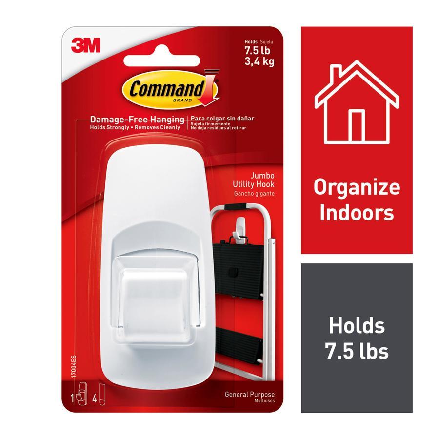 Command White Adhesive Jumbo Hook At Lowes Com