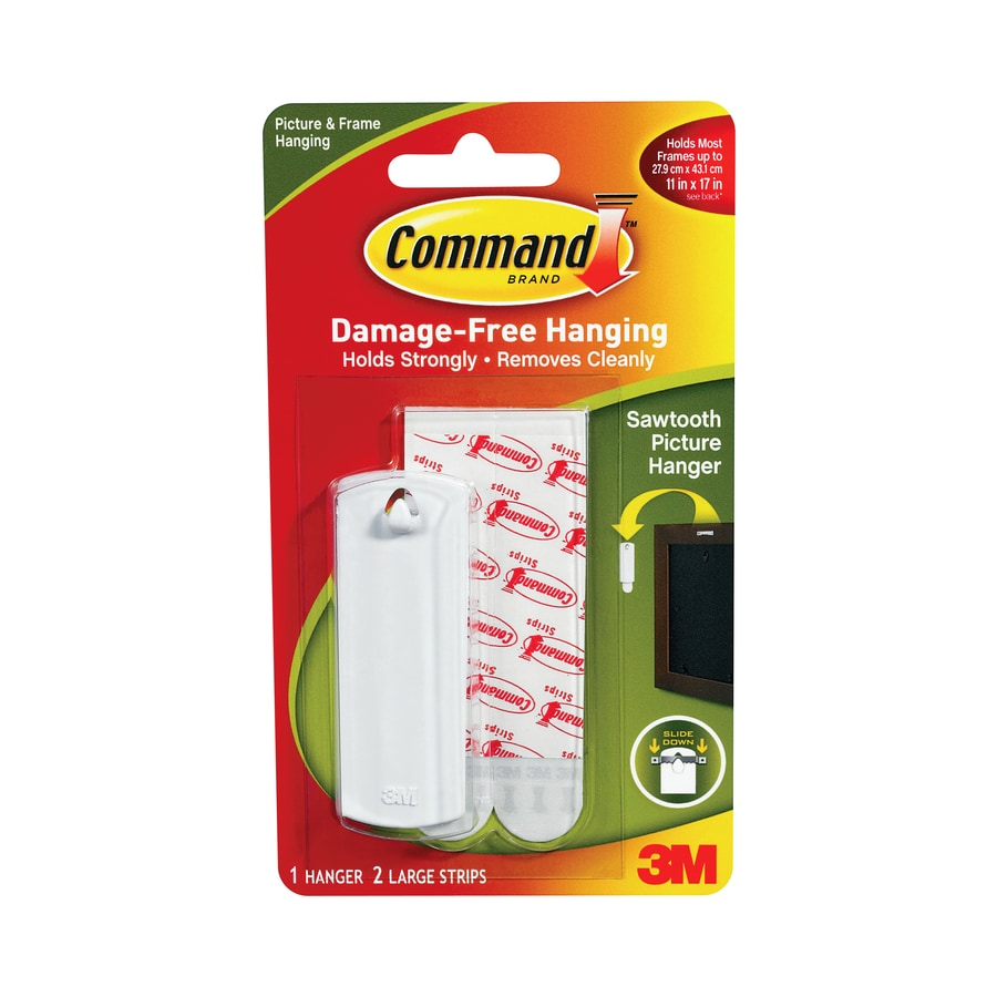 Command Strips and Sawtooth Picture Hanger