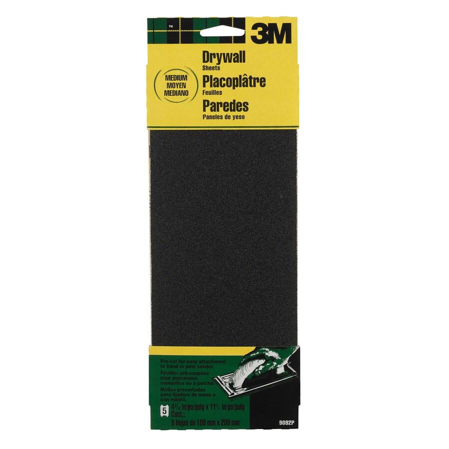 3M 5-Pack 4.1875-in W x 11.2500-in L 100-Grit Industrial Paper Sandpaper