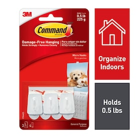 Command 3-Pack White Adhesive Hooks