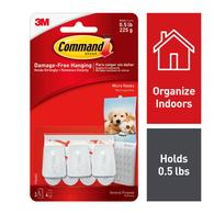 3-Pack Command White Adhesive Hook Deals
