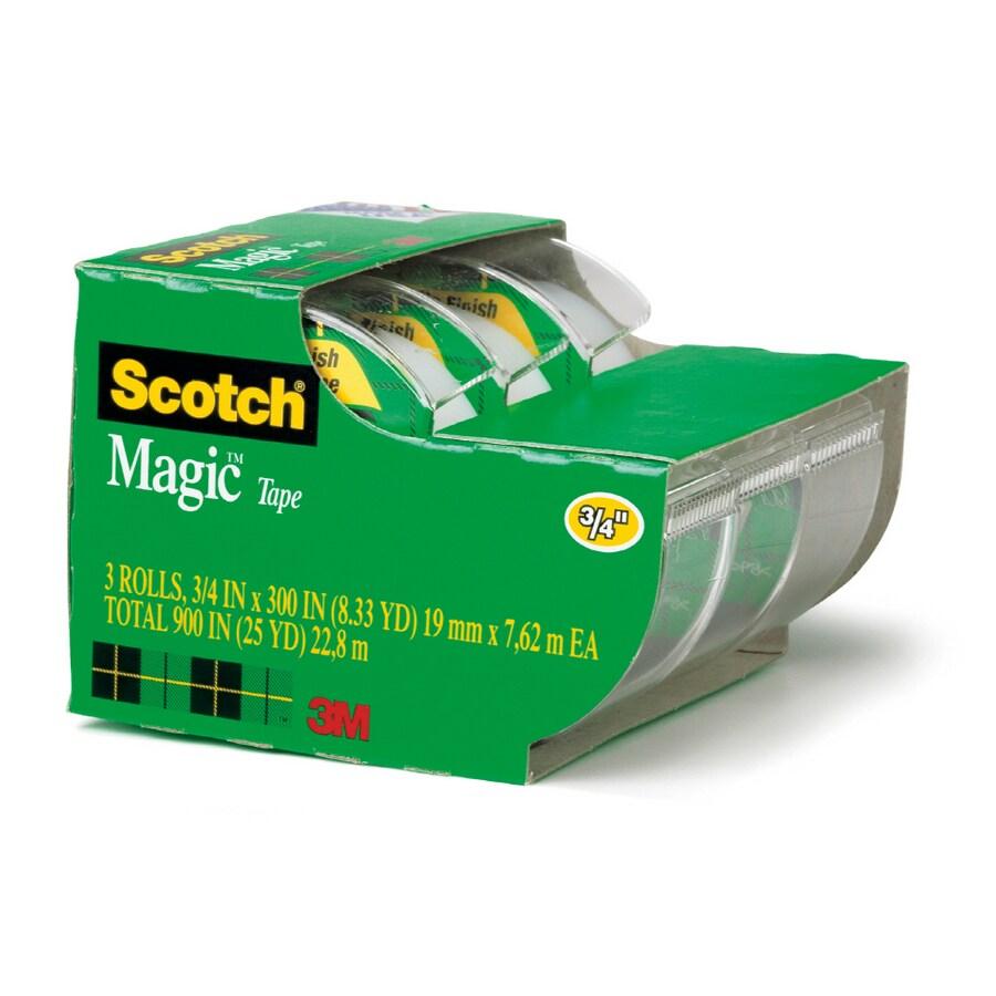 Scotch 3-Pack .75-in x 25-ft Magic™ Tape