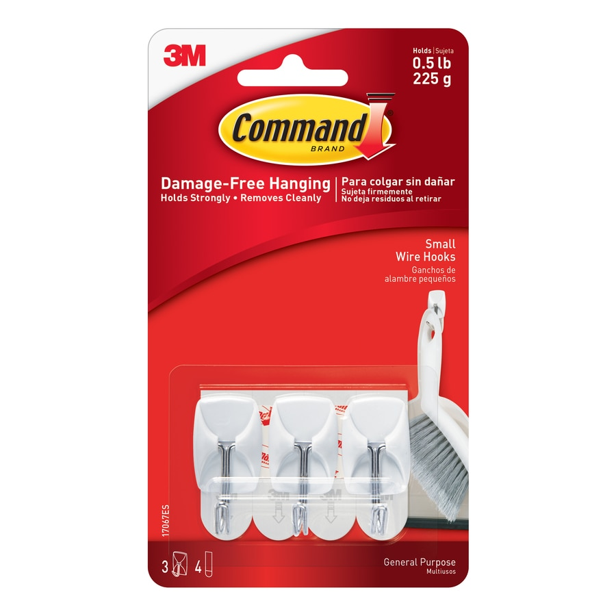 Command 3-Pack White Adhesive Hooks