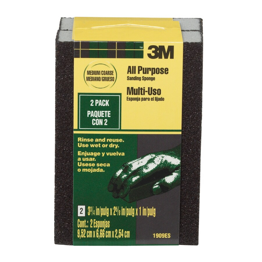 3M 2.62-in x 3.75-in Multi-Grade Pack Commercial Sanding Sponge