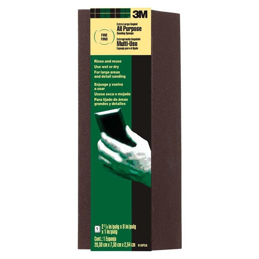 3M 2.87-in x 8-in-Grit Commercial Sanding Sponge