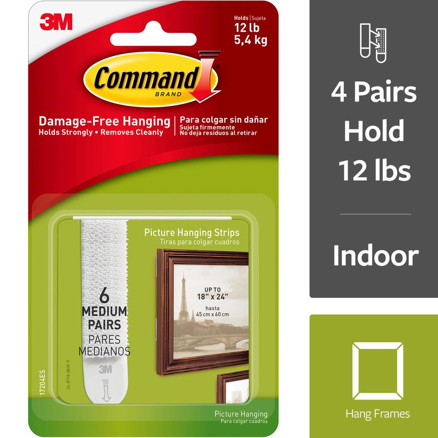 Command Command(Tm) Medium Picture Hanging Strips 6 Set/Pack