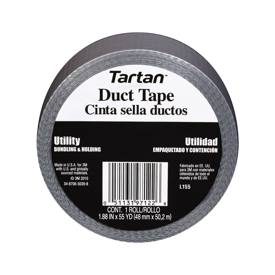 Tartan 1.88-in x 165-ft Gray Duct Tape