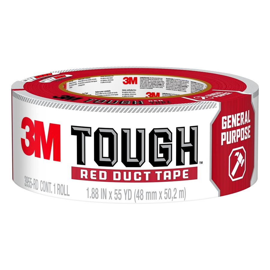 3M Tough 1.88-in x 165-ft Red Duct Tape
