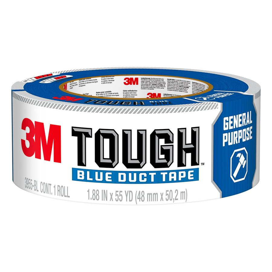 3M Tough 1.88-in x 165-ft Blue Duct Tape
