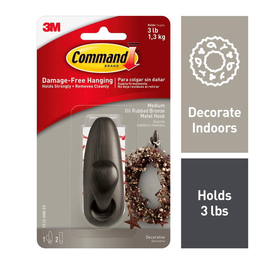 Command Oil Rubbed Bronze Adhesive Hook