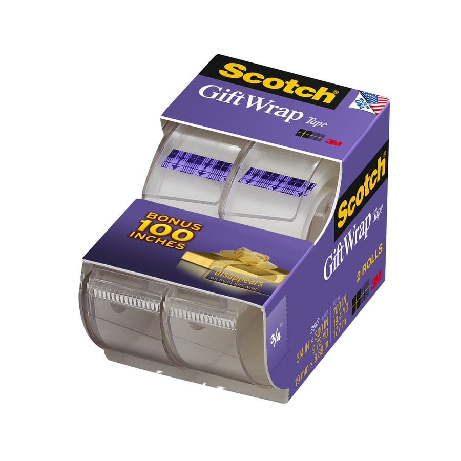 Scotch 2-Pack Gift Wrap 29.2-ft x 0.75-in Clear Tape