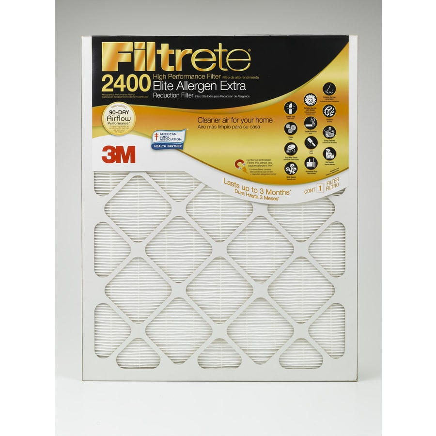 Filtrete (Common: 20-in x 25-in x 1-in; Actual: 19.6-in x 24.7-in x 0.78125-in) Elite Allergen Extra Reduction Electrostatic Pleated Air Filter