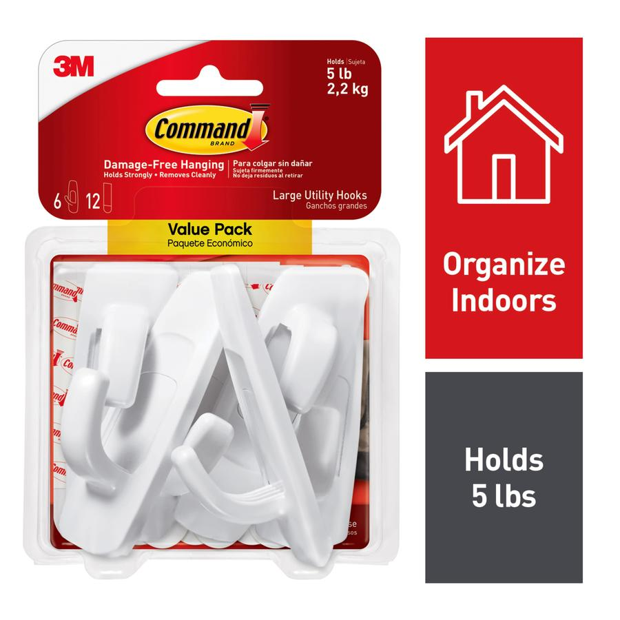 Command 6-Pack White Adhesive Hooks