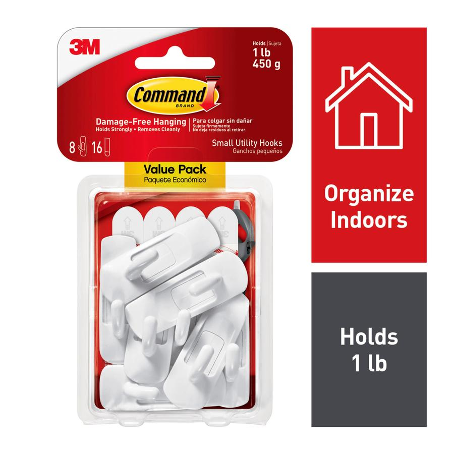 Command 8-Pack White Adhesive Hooks