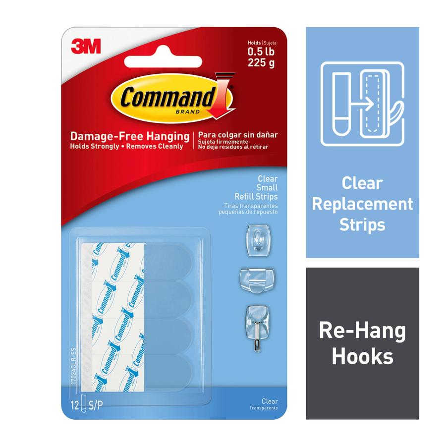 Command 12-Pack Clear Adhesive Hook