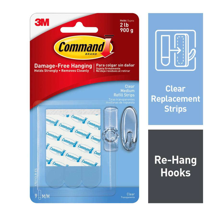 Command 9-Pack Clear Adhesive Hook