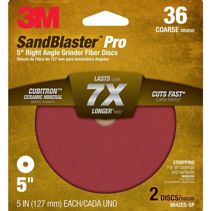 3M 2-Pack 36-Grit 5-in W x 5-in L Discs Sandpaper