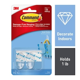 Command 2-Pack Clear Adhesive Hook