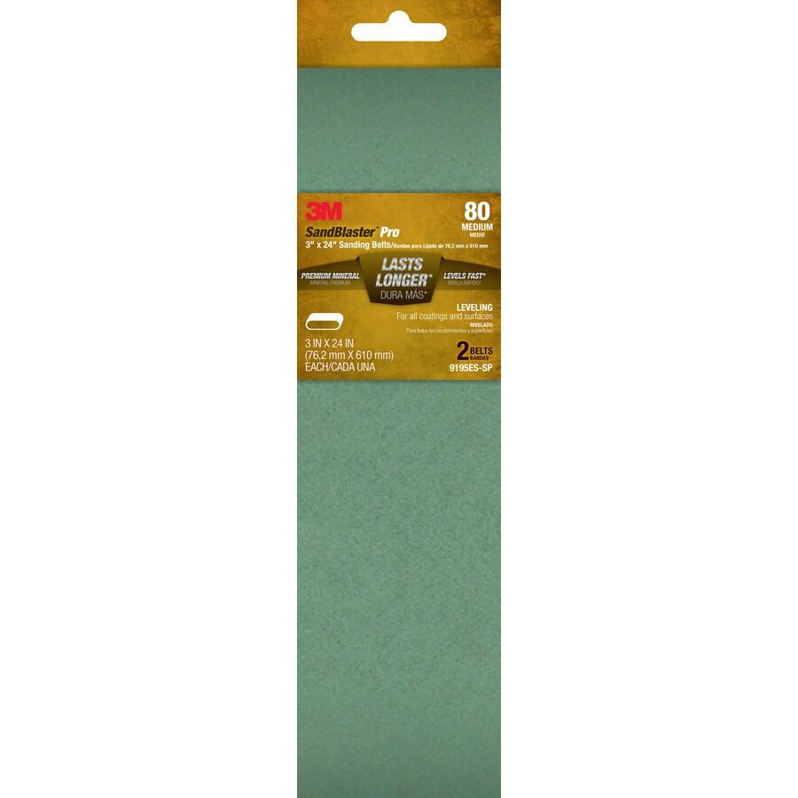 3M 2-Pack 3-in W x 24-in L 80-Grit Commercial Belts Sandpaper