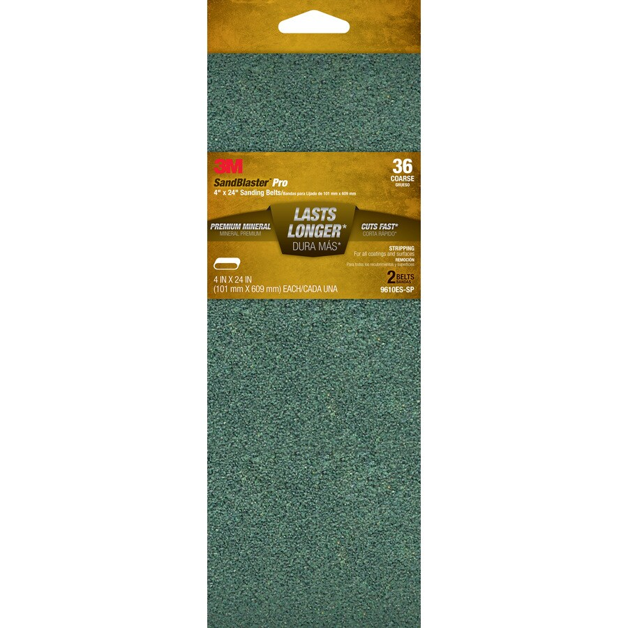 3M 2-Pack 4-in W x 24-in L 36-Grit Commercial Belts Sandpaper