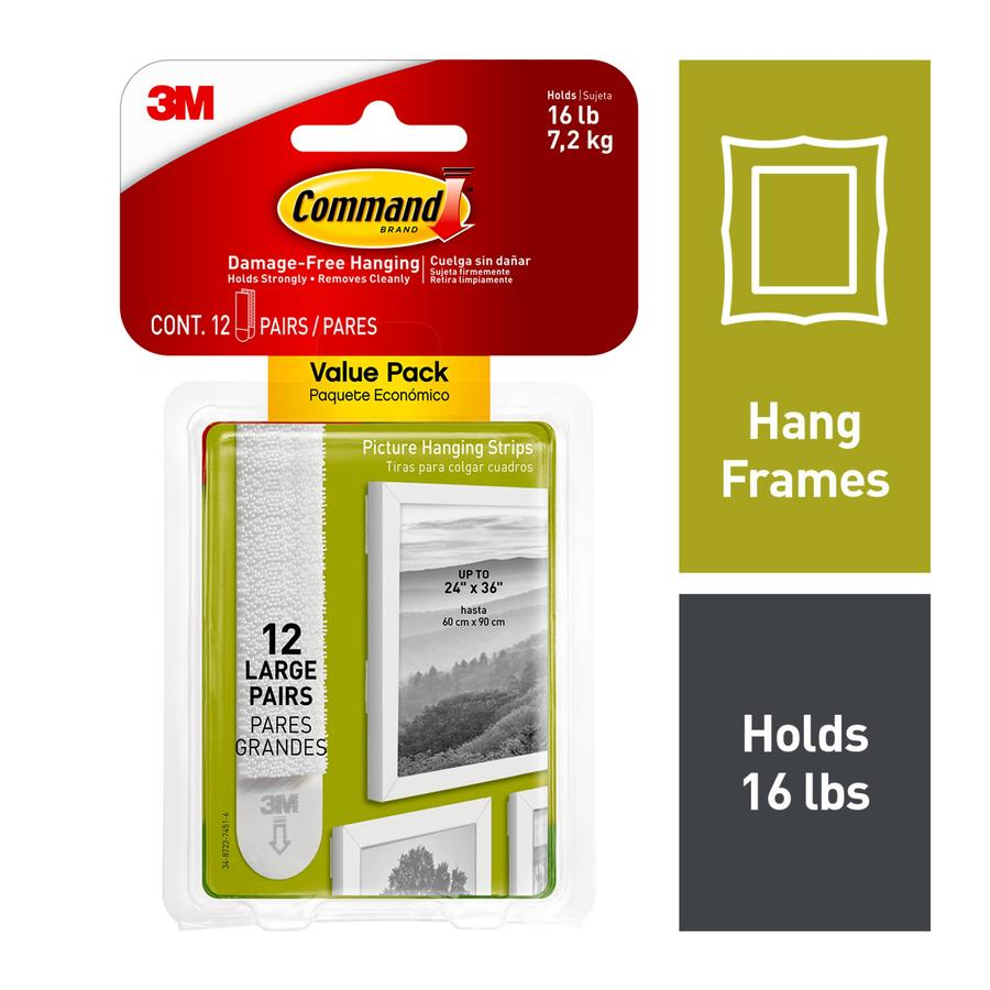 Large 24 Pair Command Picture /& Frame Hanging Strips by Command