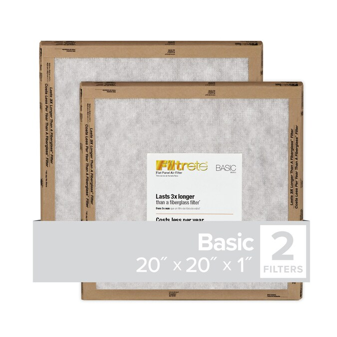 24 X 2-Pack Filtrete Basics Flat Panel Air Filters (mix or match sizes)