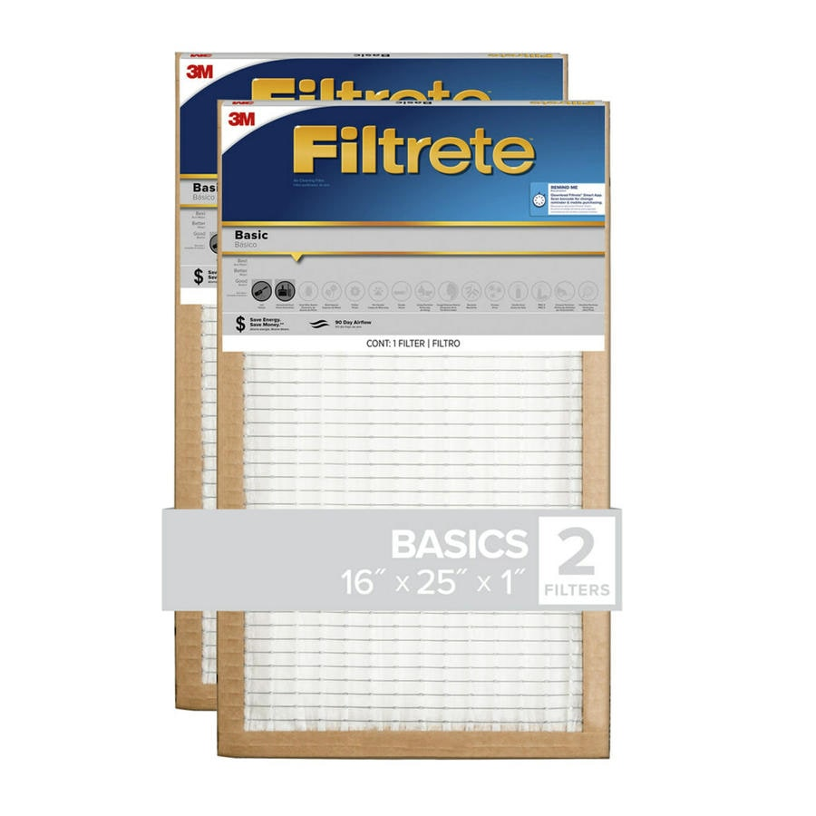 Filtrete 2-Pack Flat Panel (Common: 16-in x 25-in x 1-in; Actual: 15.7-in x 24.7-in x 0.8125-in) Basic Flat Air Filter