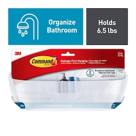Command Frosted Plastic Bathtub Caddy