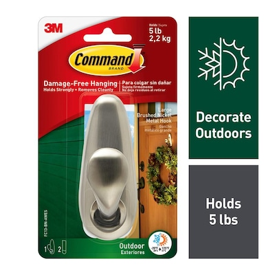 Command Metal Adhesive Hook at Lowes com