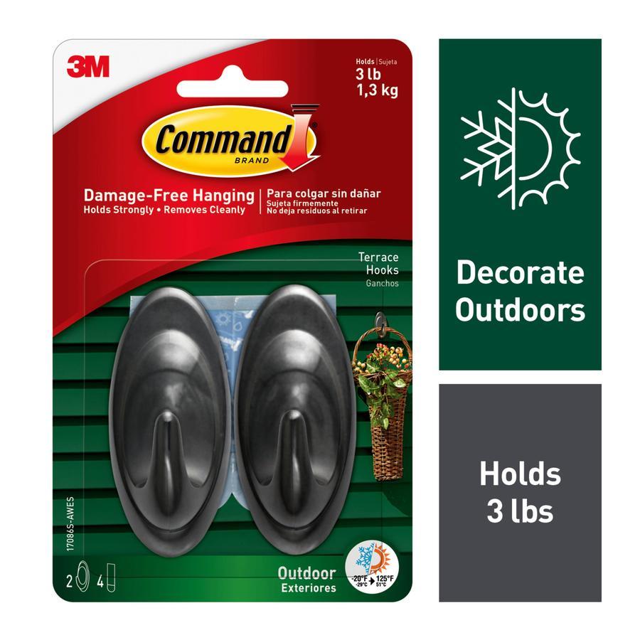 Command 2-Pack Slate Adhesive Hooks