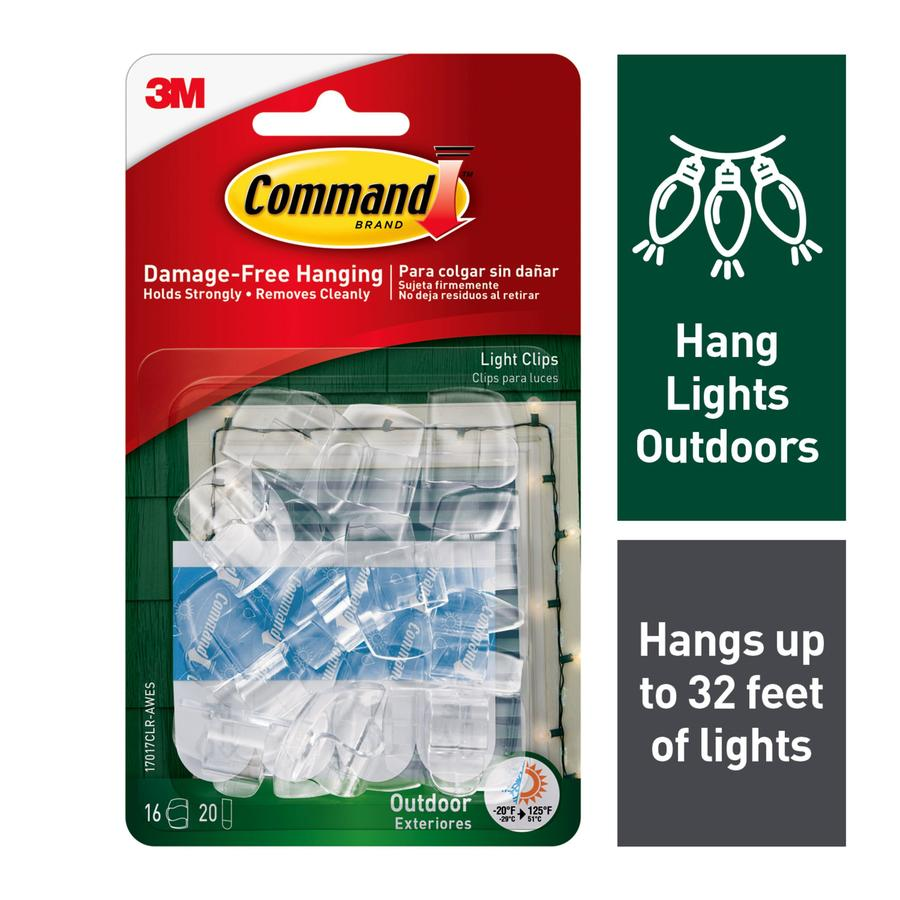 Command 16-Pack Clear Adhesive Hooks
