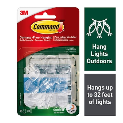 Command 16-Pack Clear Adhesive Hooks at Lowes com