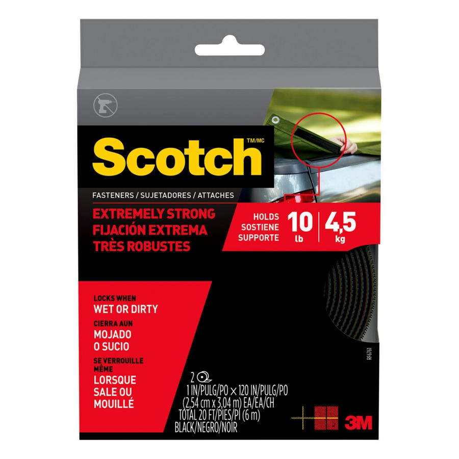 Scotch 120-in Black Roll Fastener