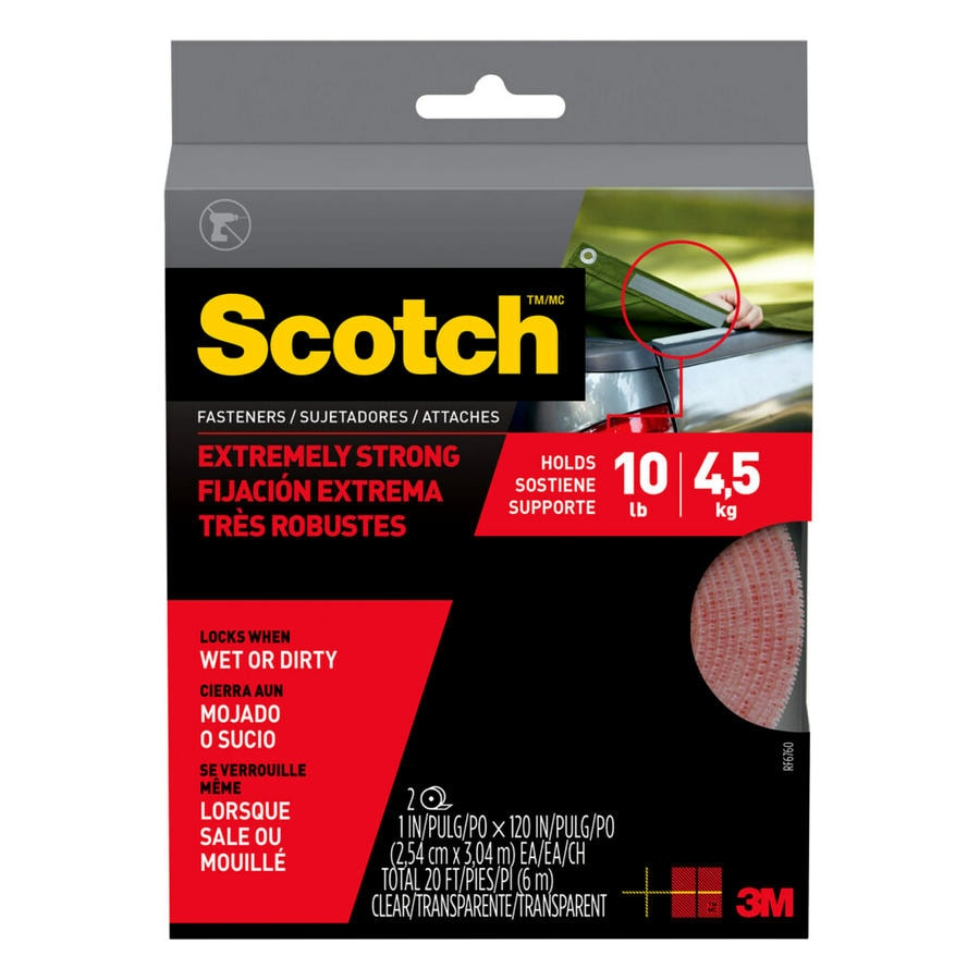 Scotch 1-in x 120-in Clear Roll Fastener