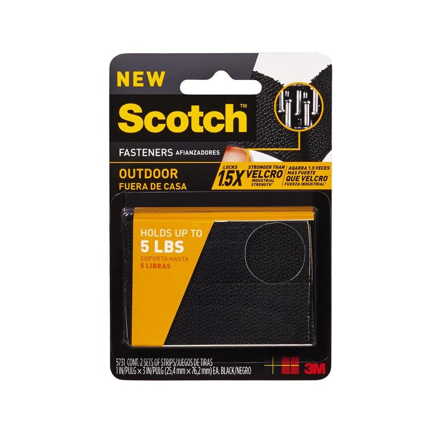 Scotch 2-Pack 1-in Black Fasteners