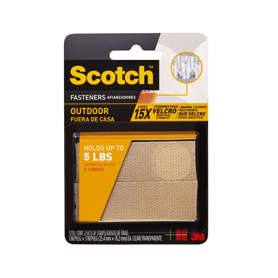 Scotch 2-Pack 1-in x 3-in Clear Rectangle Fasteners