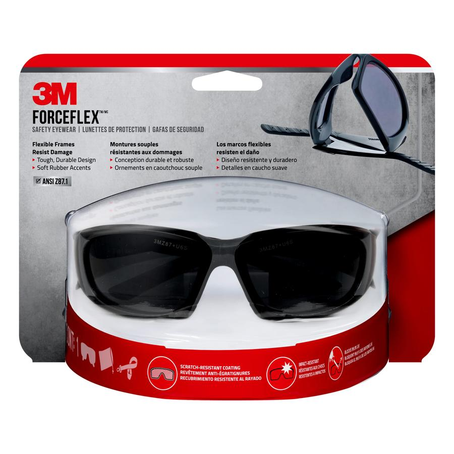 3M Safety Eyewear Blck/Gray/Sr