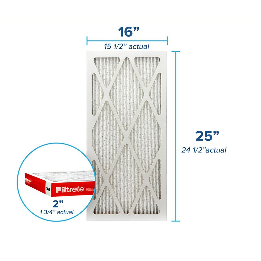 Filtrete (Common: 16-in x 25-in x 2-in; Actual: 15.6-in x 24.6-in x 1.75-in) Pleated Air Filter
