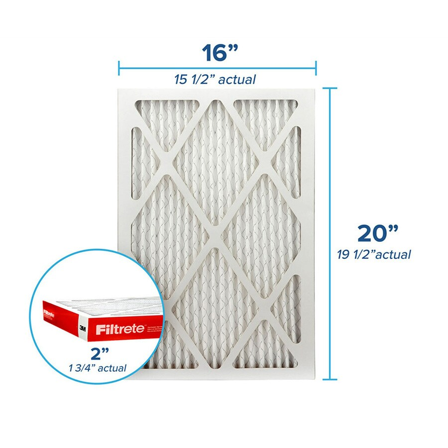 Filtrete (Common: 16-in x 20-in x 2-in; Actual: 15.6-in x 19.6-in x 1.75-in) Pleated Air Filter