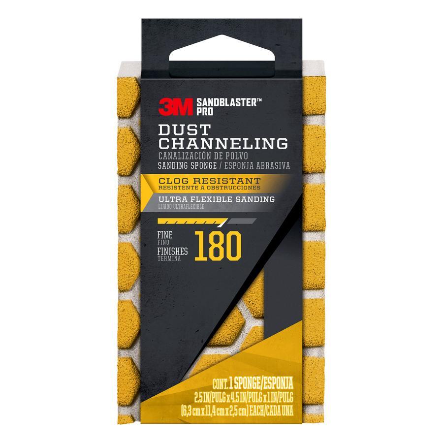 3M SandBlaster Pro 2.5-in x 4.5-in 180-Grit Premium Sanding Sponge