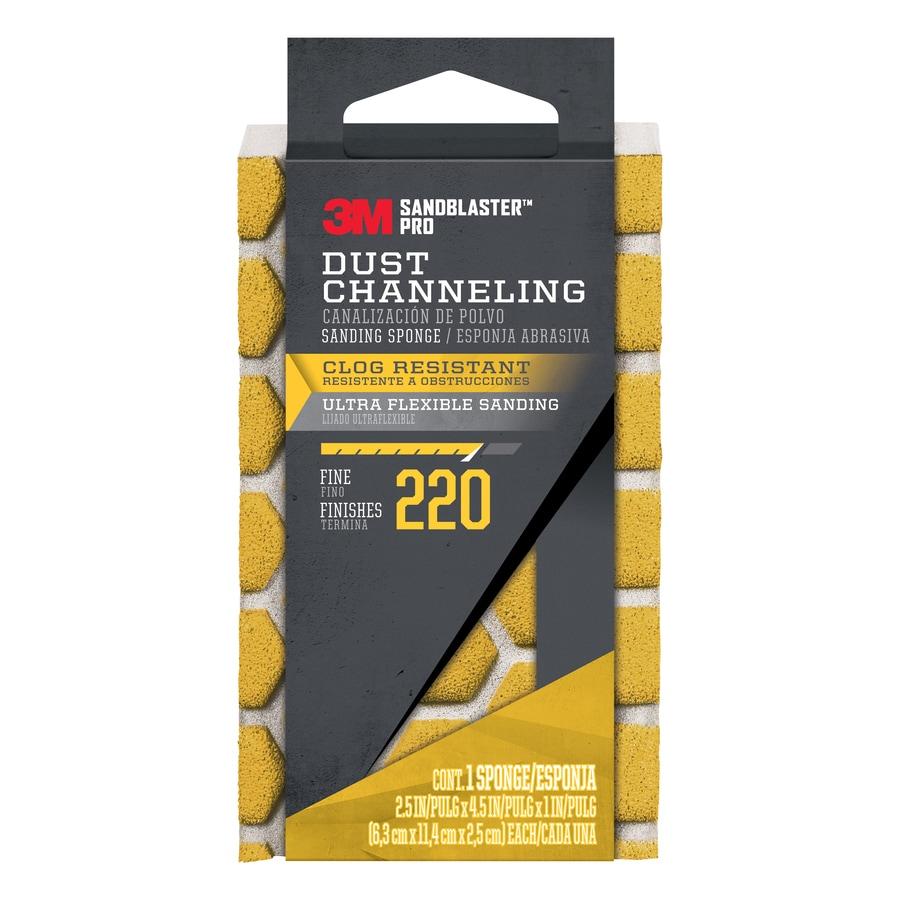 3M SandBlaster Pro 2.5-in x 4.5-in 220-Grit Premium Sanding Sponge
